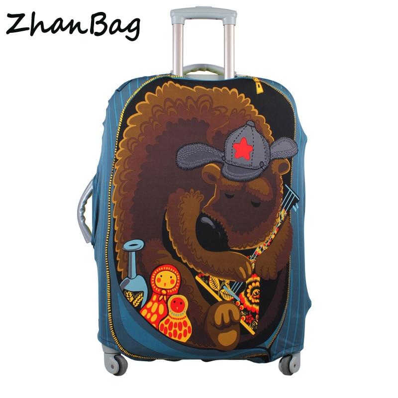 Cubierta protectora de la maleta del equipaje del recorrido, estiramiento a prueba de polvo cubierta protectora, cubierta de la maleta aplicar a 18-30 pulgadas casos Z-114