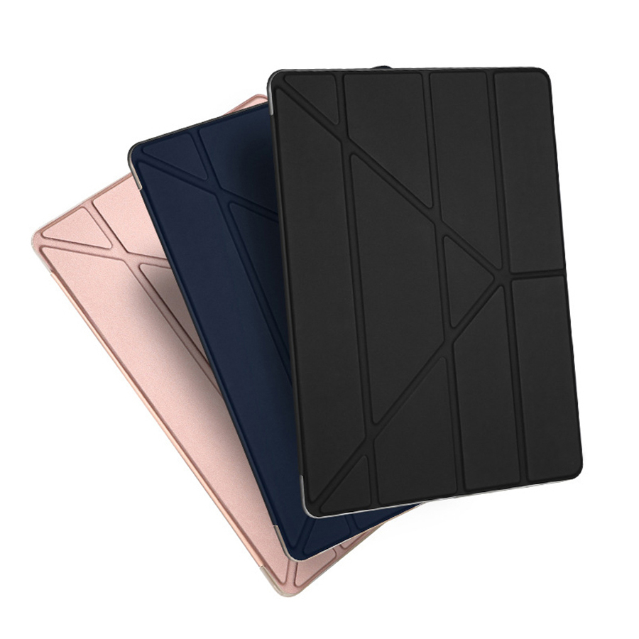 Leather Ultra-Thin Cases For Ipad Pro 10.5 12.9 Air2 Business Stand Cover With Automatic Sleep Wake-Up Soft TPU+PU Coque Funda
