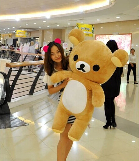 60cm Kawaii big brown japanese style rilakkuma plush toy teddy bear stuffed animal doll birthday gift free shipping 80cm kawaii big brown japanese style rilakkuma plush toy teddy bear stuffed animal doll birthday gift free shipping