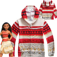 Movie Princess Moana Costume For Kids Moana Princess Cosplay Costume Children Halloween Costume For Girls Jacket