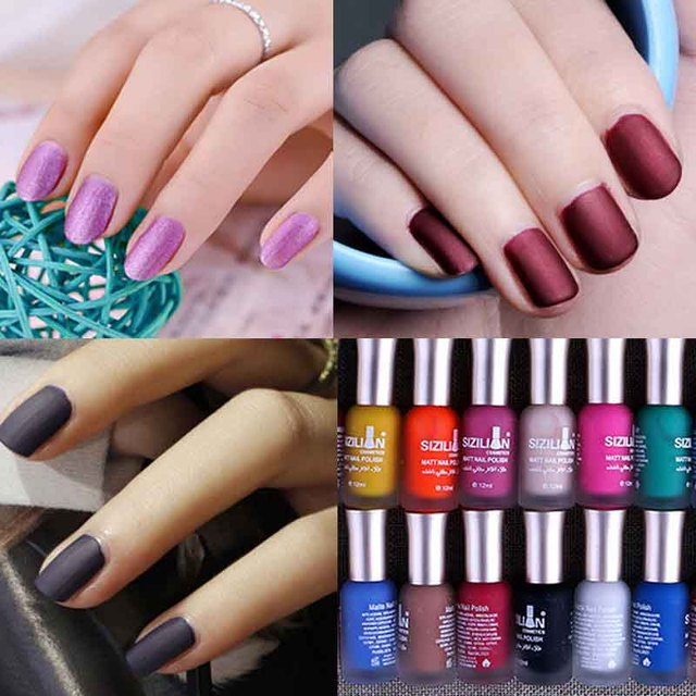 B 2017 new!!40 colours Beautiful Nail Matte Satin matte matte ...