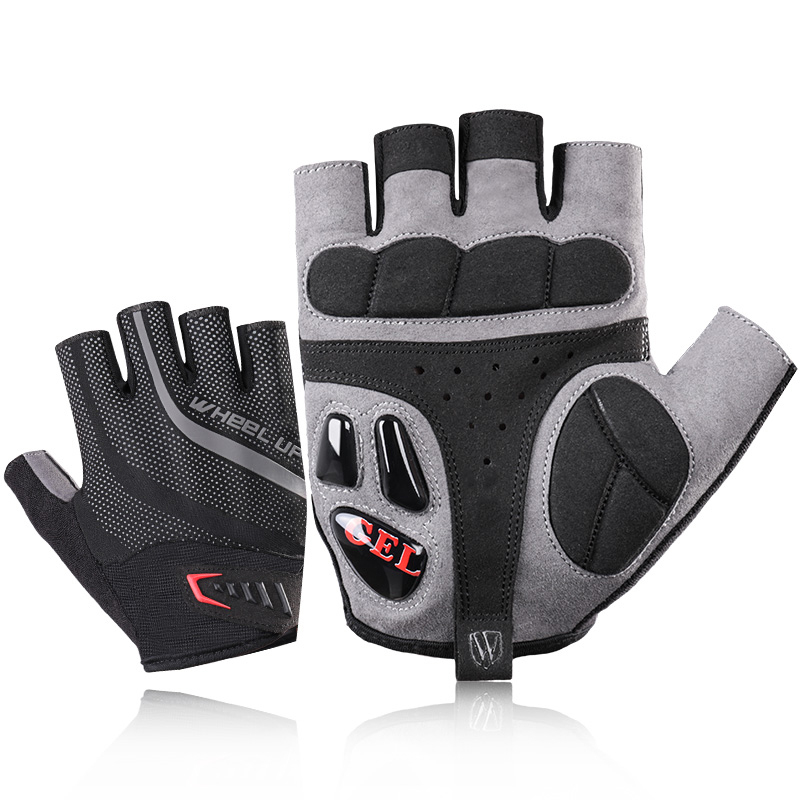 Half Finger Cycling <font><b>Gloves</b></font> <font><b>Gel</b></font> Bicycle Racing Sport <font><b>Mountain</b></font> <font><b>Bike</b></font> <font><b>Gloves</b></font> Breathable MTB SBR Filler Road <font><b>Bike</b></font> Cycling <font><b>Gloves</b></font> image