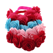 Baby Headband Flower Girls Kids Ribbon Hair Bands for Baby Girls Headwear Summer bandeau Hair Accessories jrfsd solid color knotting headband cotton material hair accessories suitable for 0 7 year old kid hair bands for girls headwear