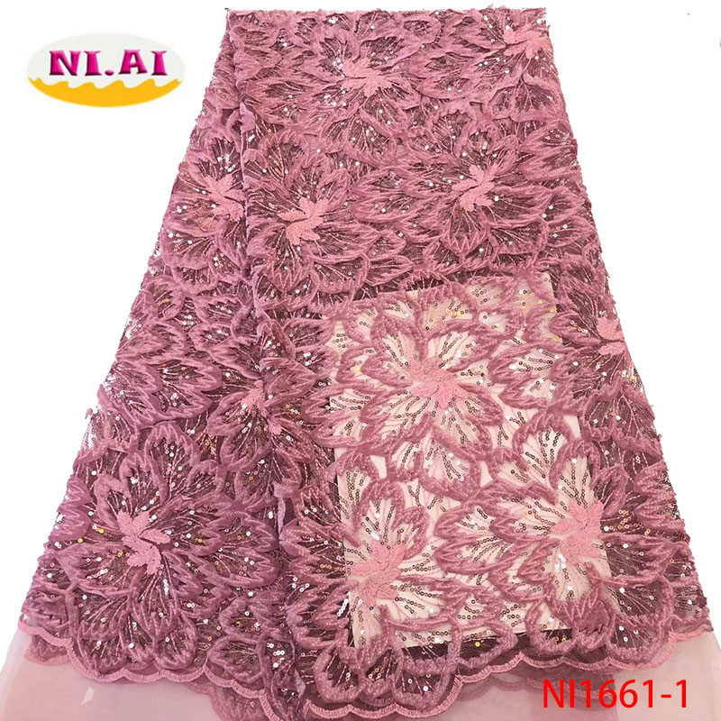 African Lace Fabric Pink Nigerian Lace Fabric Bridal 2019 High Quality Velvet Net Tulle Lace Fabric