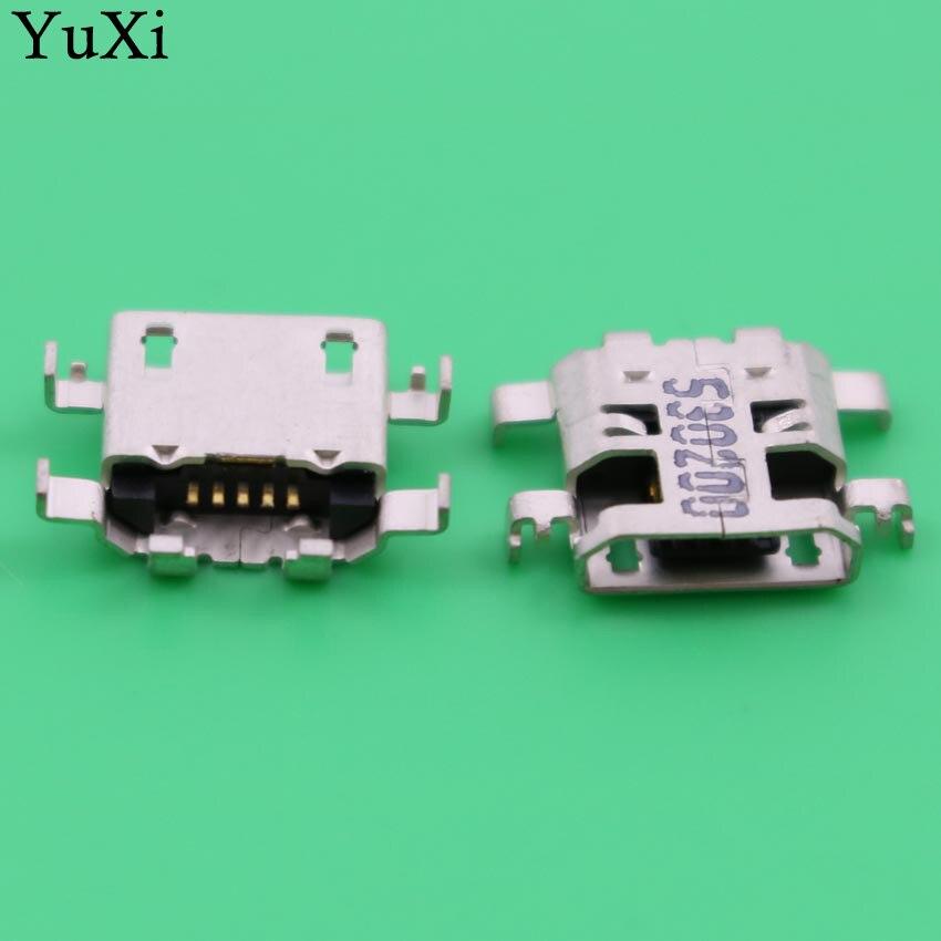 10pcs For Sony M2 S50H S50T D2303 D2305/06 For LENOVO A8-50 A5500 Charging Port Socket Micro USB Connector Mini Usb Jack.
