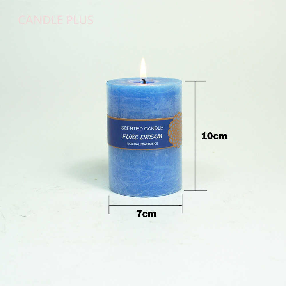 CHUANGGE Candele Profumate Candele di Cera Di Soia Olio di Cocco Senza Fumo Blu Bar Craft Illuminazione Candele Bougies Velas