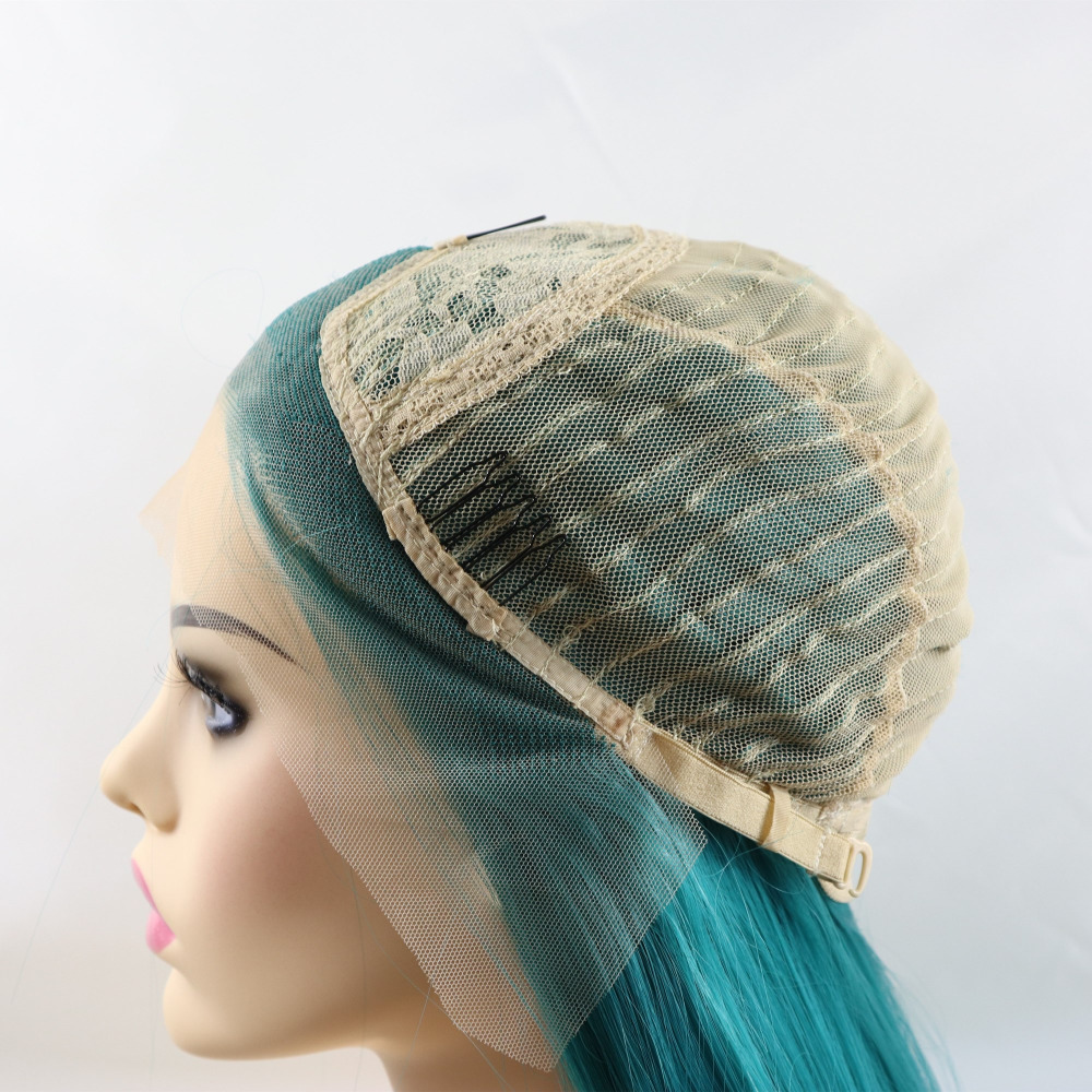 Marquesha Synthetic Lace Front Blue Wig Realistic Looking
