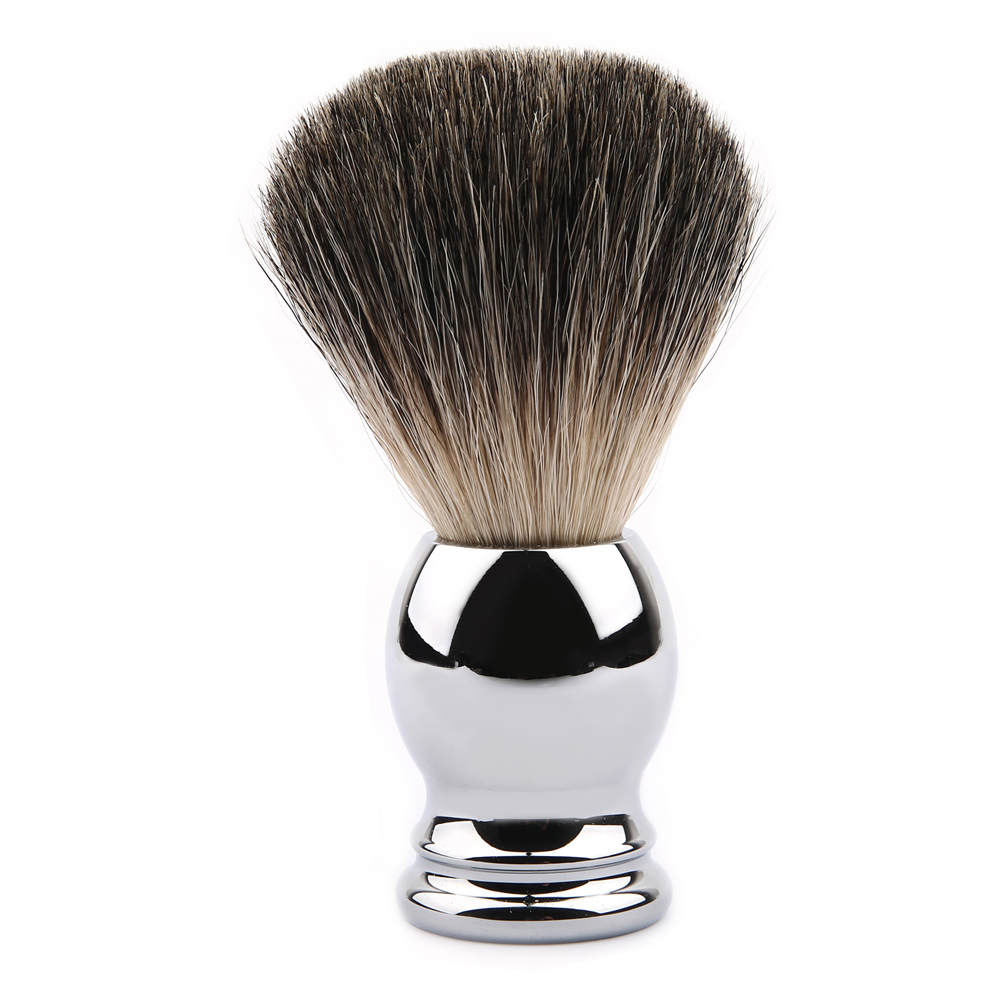 Blank Stainless Steel Handle Shaving Brush Badger Beard Brushes Barber Mustache Tools