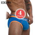 (Asian size) 4 pieces/lot cotton sexy men underwear bries for mens/gay/male/boy