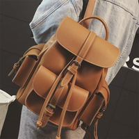New Arrival Vintage Retro PU Preppy England Style Shoulders Backpack Fashion Casual Shopping College Student Lady