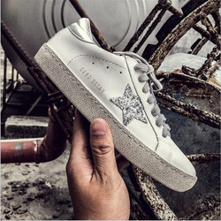 VIXLEO casual shoes Italy Golden Genuine Leather Casual women Trainers Goose star shoes Breathe Flat Shoes Footwear Zapatillas