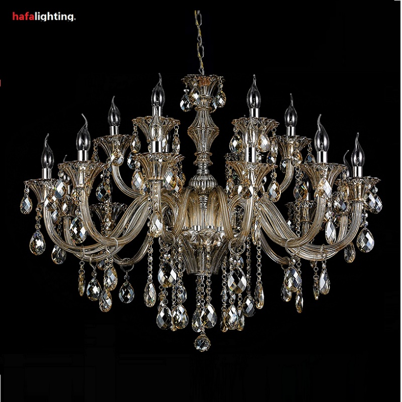 Free shipping Crystal Lighting Large Chandelier 18 Lamp Crystal Lights Hotel Light crystal Chandelier Large bedroom Living room chandelier lighting crystal luxury modern chandeliers crystal bedroom light crystal chandelier lamp hanging room light lighting