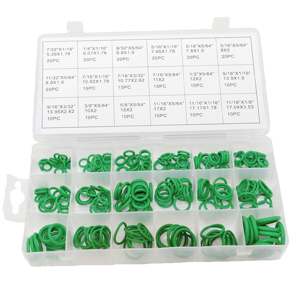 270 Pcs O Ring Sealing Assortment Set Nitril Butadiene Rubber 18 Ukuran Berbeda Washer Segel Nbr Kit With Kotak Penyimpanan For Pintu Mobil Jendela Electric Appliance Bearing Pompa Carrier Roller Terbaru