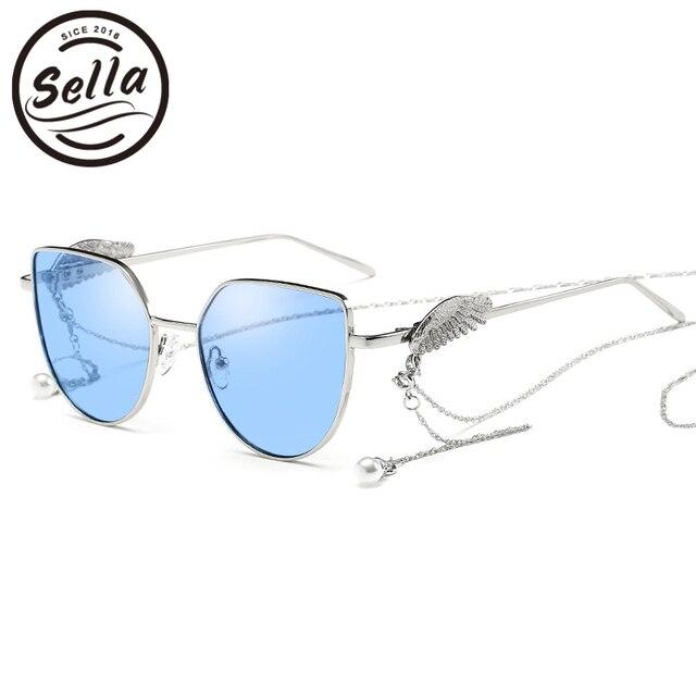 aebfd8540740 Sella New Arrival Cat Eye Tint Lens Sunglasses Wings On Legs Angel's Wing  Trending Eyewear Brand