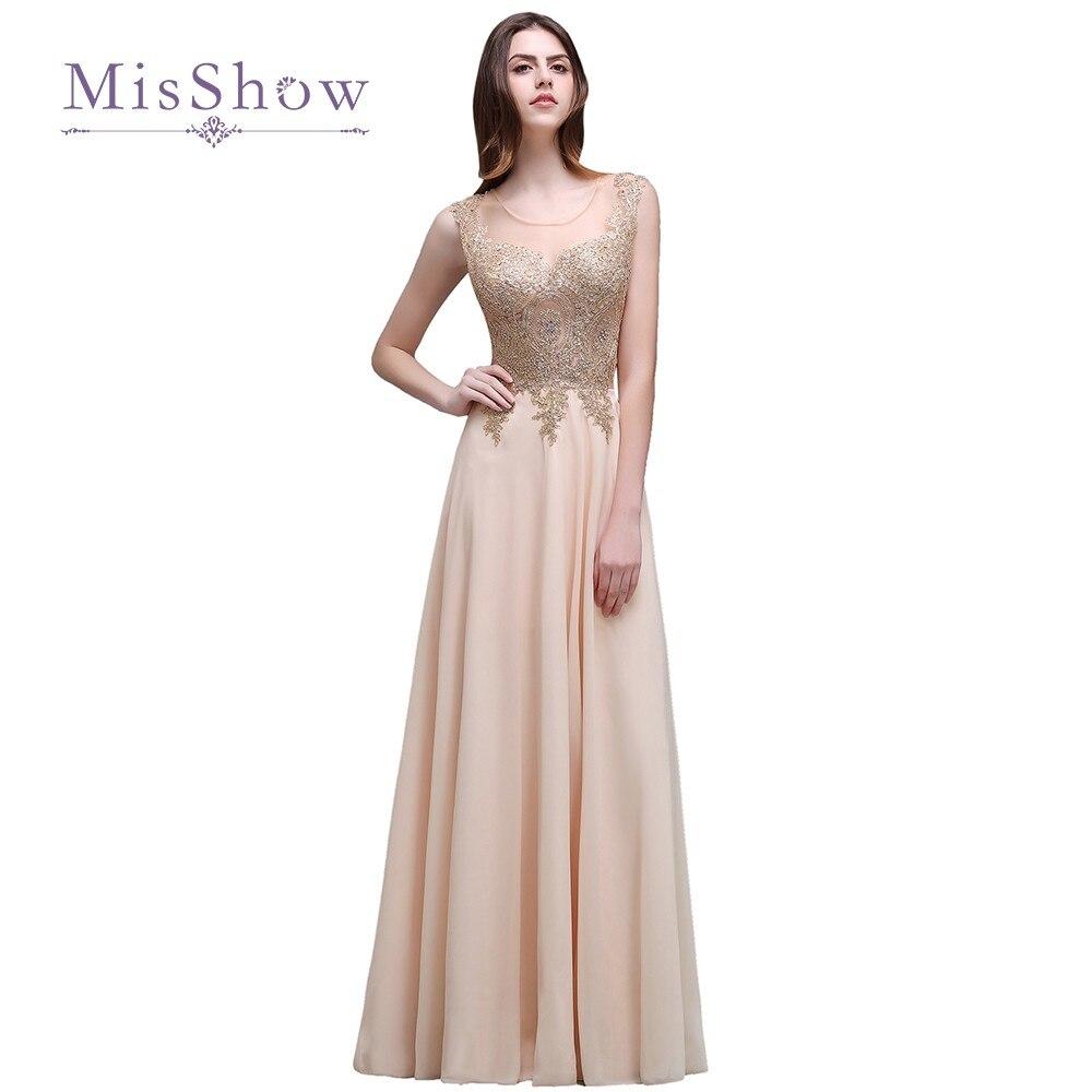 Discount Couture Dresses: Cheap Elegant Long Evening Dresses Gold Appliques See