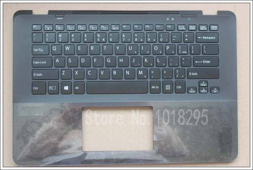 NEW laptop US keyboard for Sony Vaio SVF14A SVF14AA1QM SVF14A1C5E black backlight keyboard with Palmrest Cover 3XGD5PHN050 new for sony vgn fj series laptop us keyboard 147951221 black
