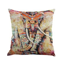 45*45cm Square 18″ Cotton Linen Colorful Home Decorative Sofa Throw Cushion Car Seat Waist