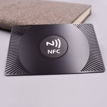 лучшая цена Programmable Read and Write Passive printed business NFC metal smart Card /13.56MHz metal rfid blank card