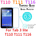"""T110 9H Explosion-Proof Toughened Tempered Glass For Samsung Galaxy Tab 3 Lite T110 T111 T116 7"""" Film HD Screen Protect Cover"""