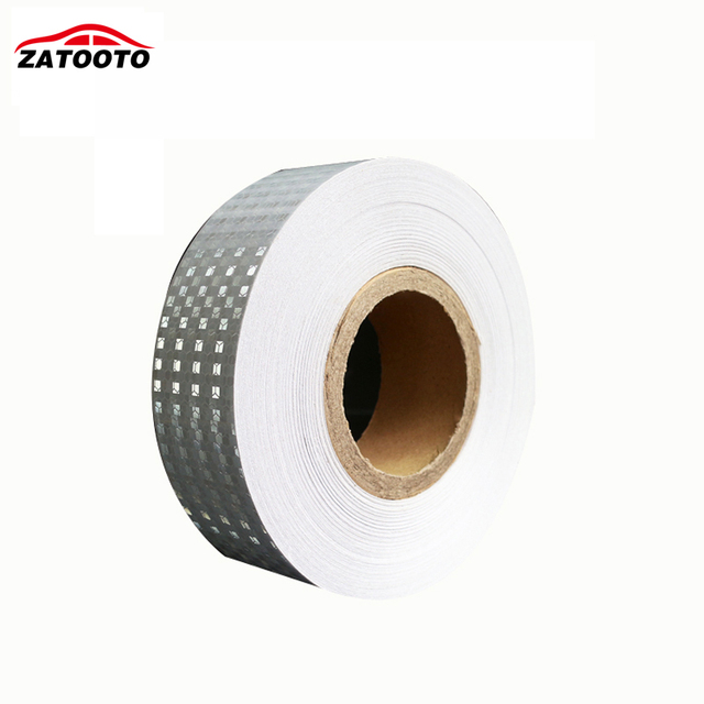 5cm*45M White Reflective glisten Vehicle Conspicuity Tape Good Quanlity truck  Hazard warning tape Crystal lattice