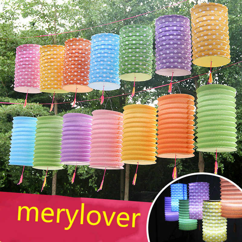 New 1pc/lot Cylindrical Paper Lanterns for Kids Birthday Party Decor DIY Wedding Home Romantic Wedding Party Decoration Lanterns