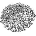 100pcs 6mm Round Mushroom Shaped Metal Rivets DIY Punk Style Leather Shoes Bag Bracelet Rapid Studs (Silver)