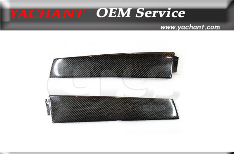 Car Styling Carbon Fiber CF B-Pillar Cover Fit For 1995-1998 Skyline R33 GTR GTS B Pillar Cover Trim frp fiber glass car styling hood bonnet lip chin valance fin add on tuning parts for nissan skyline r32 gtr gts