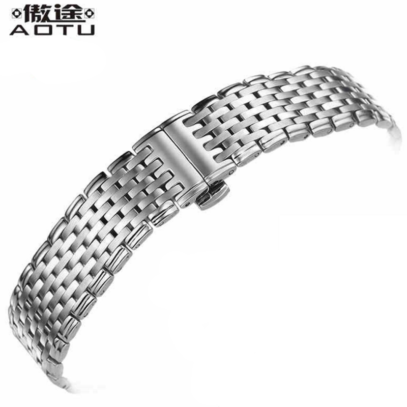 Stainless Steel Watch Straps For Longines Men Watch Band 13/18/20MM Bracelet Belt Top Quality Metal Women Watchbands Clock Belt men s stainless steel watch straps for blancpain leman fifty fathoms clock strap women luxury watchband 20mm ladies bracelet page 1