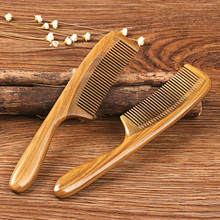 Mixed Color 1piece Natural Handmade Styling Tool Adult Kid Hair Care Treatment Anti-static Anti-Hair Loss Wood Comb