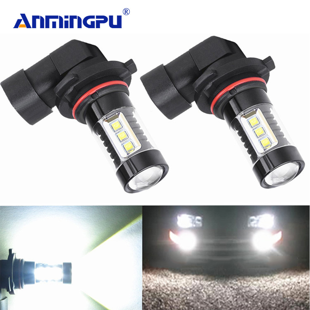 Anmingpu 2x Car Fog Lamp H8 H11 LED Bulbs H7 H1 H3 HB4 9006 HB3 9005 Led Fog Light 6000K White 16SMD H16 H11 Led 3000K Car Light