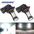 Anmingpu 2x carro nevoeiro lâmpada h8 h11 lâmpadas led h7 h1 h3 hb4 9006 hb3 9005 led luz de nevoeiro 6000 k branco 16smd h16 h11 led 3000 k luz do carro