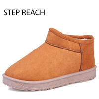 STEPREACH Brand Shoes Woman Snow Boots Women Winter Short Plush Round Toea Dult Ankle Boots For