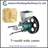 Máquina de milho tufado snacks de arroz puffing máquina extrusora 7 moldes ZF