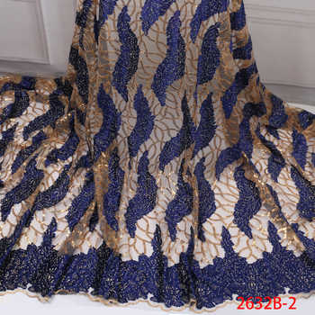 High Quality French Lace Fabric 2019 Latest African Organza Lace Fabric with Sequin Cheap Embroidery Lace Fabrics GD2632B-3 - DISCOUNT ITEM  37% OFF All Category