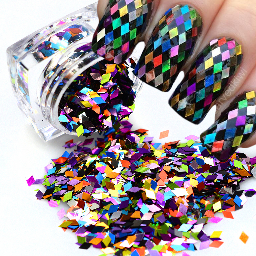 Ruit Mode Ontwerpen Nail Art Glitter Paillette Dazzling Gemengde ...
