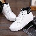 Calçados Casuais dos homens de moda Preto branco de Alta top Sapatos plaform hip Hop Sapatos Tornozelo Lace up Chassure Mans sapatos outono L101903