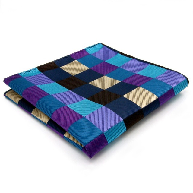 Plaided Squares Pattern Handkerchief