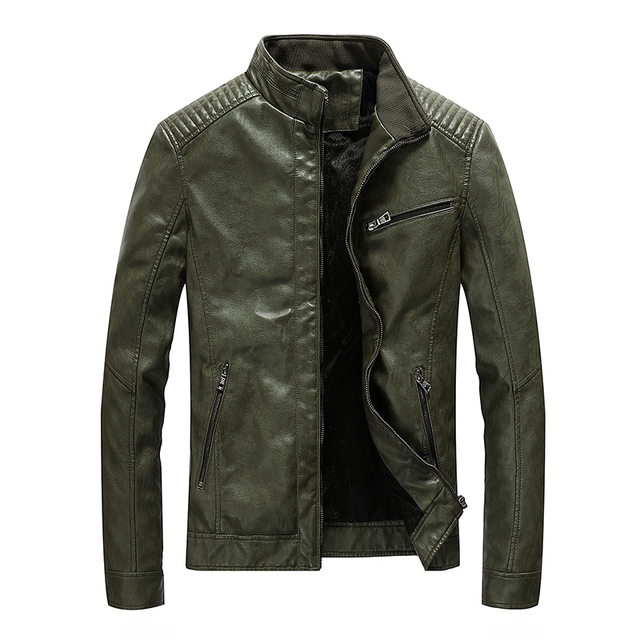 New Spring Mens Leather Jackets Stand Collar Motorcycle Pu Casual Slim Fit Coat Outwear Drop Shipping ABZ174