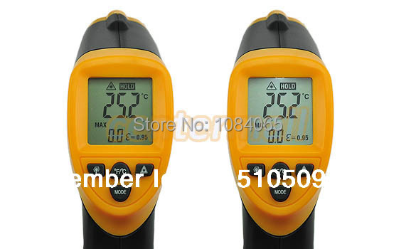Cheap Non-Contact IR Laser Infrared Digital Thermometer LCD with back light Temperature Instruments  цены