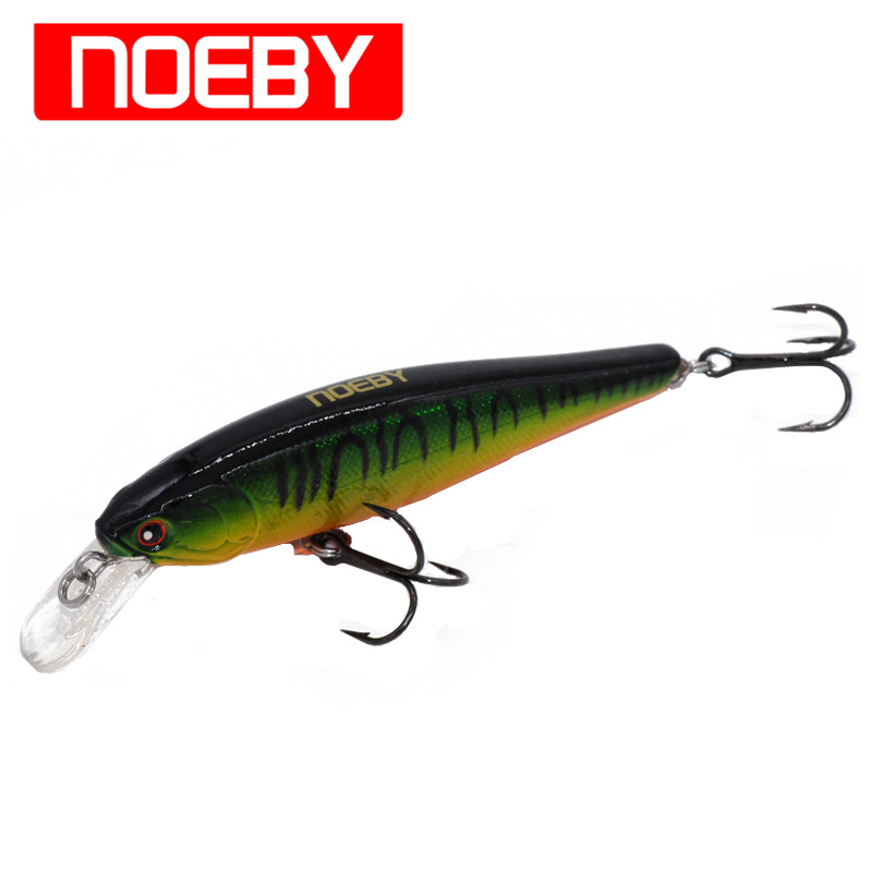 Noeby Minnow Fishing Lure 80mm/9g Suspending 0-1.0m ABS Plastic Baits VMC Treble Hook Isca Artificial Para PescaFishing Tackle 1pcs fishing lure bait minnow with treble hook isca artificial bass fishing tackle sea japan fishing lure 3d eyes