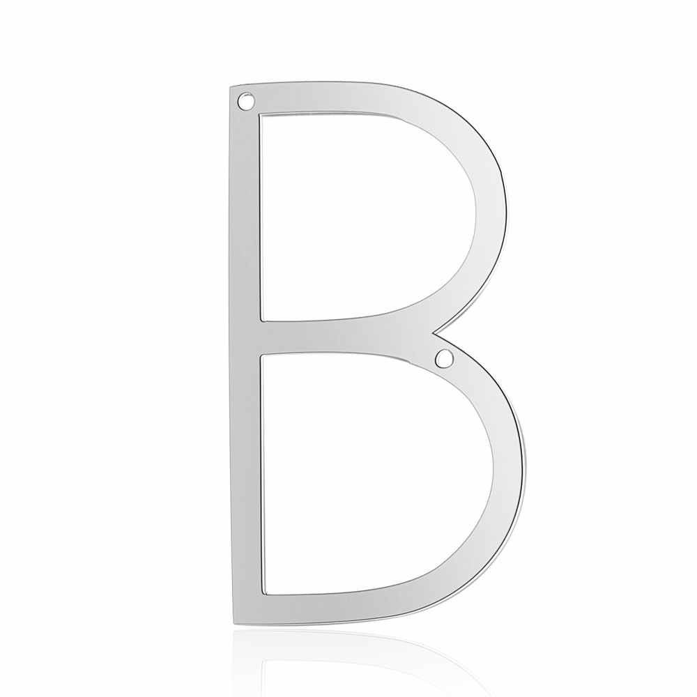 26pcs/lot Stainless Steel High Polish Cut Out Alphabet Charms DIY Initials From A-Z Two Holes Necklac Pendant Accessories