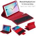Para samsung galaxy tab e 9.6 t560 t561 extraíble inalámbrico bluetooth teclado cartera folio pu cubierta de cuero + regalo
