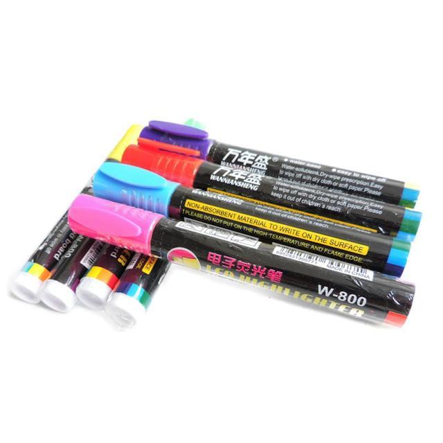 1 pz Bee Pennarello Set 8 Colori Ape Queen Marcatura Elettronica Evidenziatore A