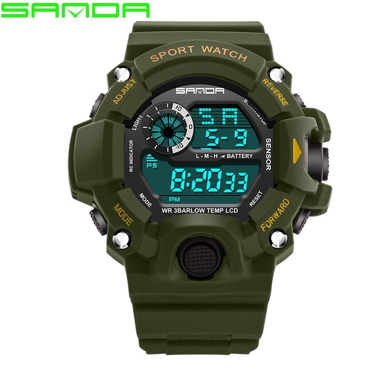 Prix pour Montre Hommes Sanda Marque Hommes de Sport Montres LED Numérique Montre Étanche Mode Casual Militaire Sport Montre Chaude Horloge relogio