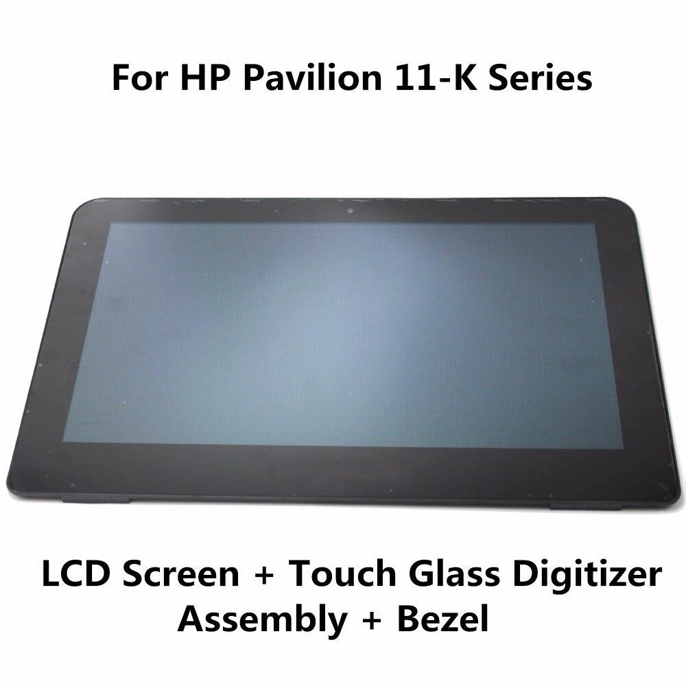 11.6'' For HP Pavilion 360 11-K108TU 11-K109TU 11-K164NR 11-K020CA 11-K164NR LCD Display Touch Screen Digitiser Assembly + Bezel lcd screen 11 6 inches lcd display for for hp pavilion dm1 3000 dm1 4010us 4341ea 1110ev dm1z 3115m