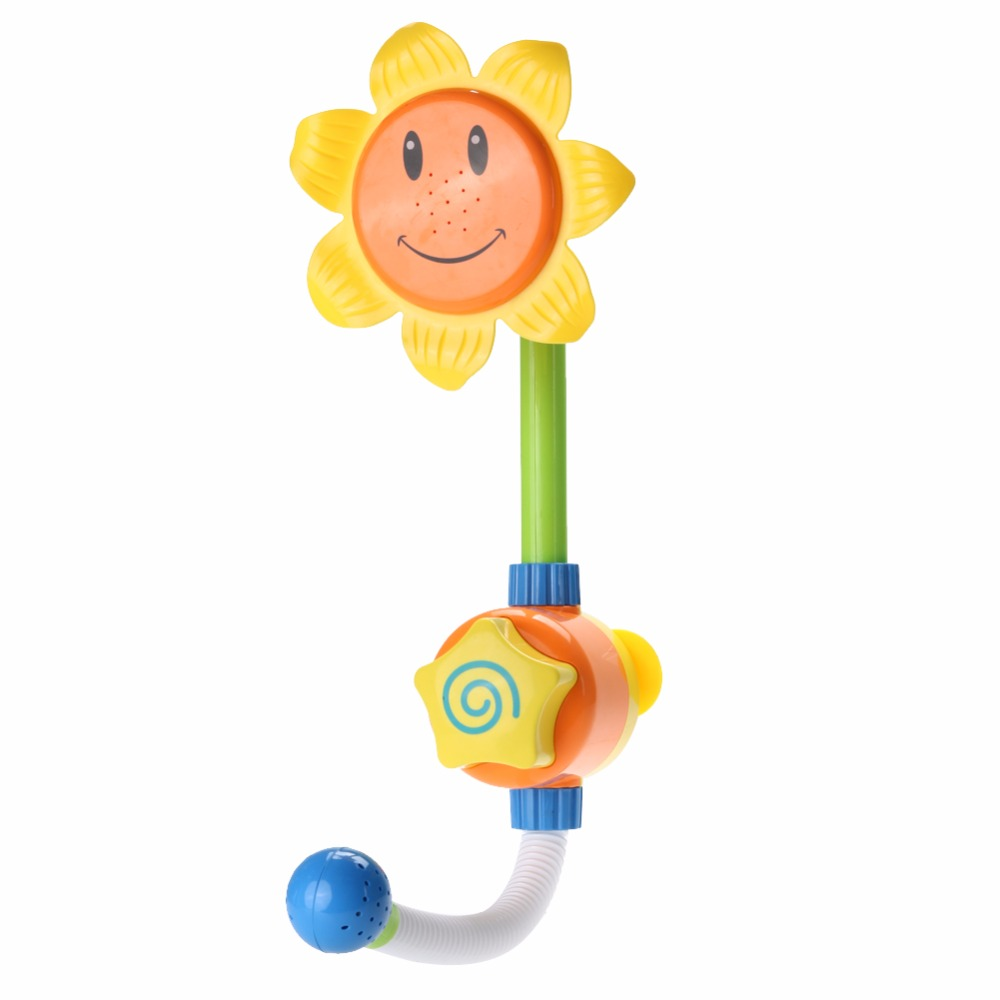 دش ماء لاستحمام الاطفال بشكل دوار الشمس 3