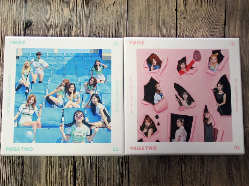 TWICE autographed signed with pen 2016 mini2nd album PAGE TWO CD new