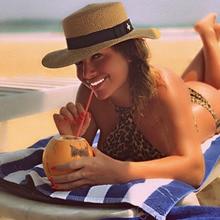 Ручная работа плетение Raffia солнцезащитные шапки для женщин черная лента шнуровка большая соломенная шляпа с полями открытый пляж летние шапки Chapeu Feminino