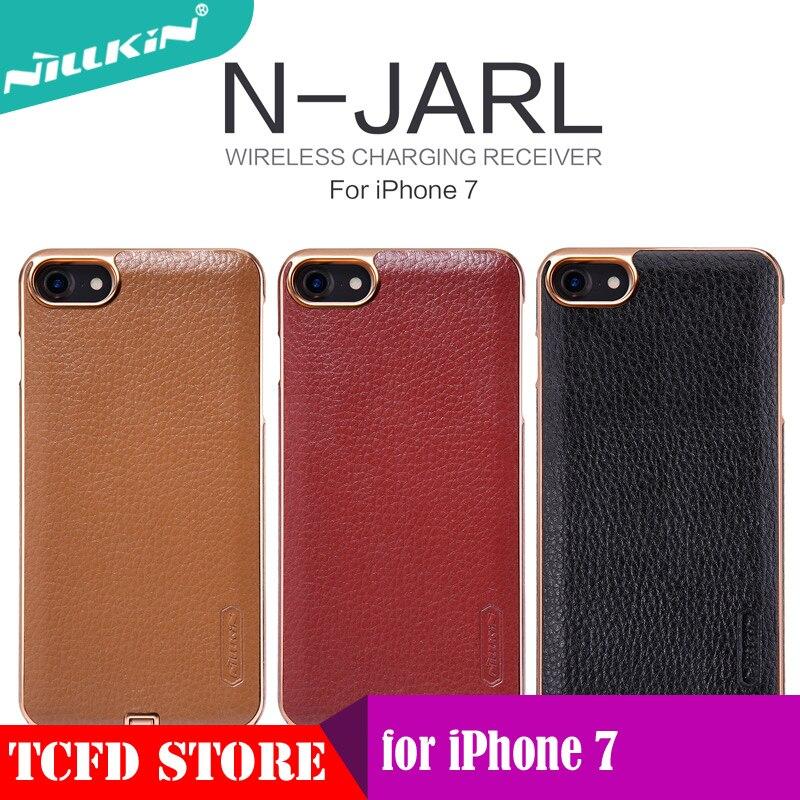 imágenes para La sfor iphone 7 case nillkin qi receptor inalámbrico n-cubierta de la energía del cargador inalámbrico transmisor de carga para el iphone 7 jarl