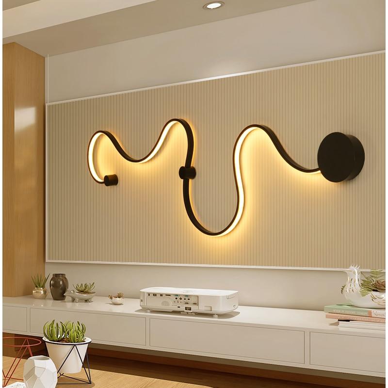 Минималистичный светодио дный современный светодиодный настенный светильник светодио дный бра настенный светильник для дома Спальня Гост...